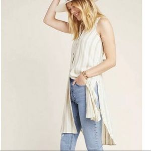 Anthropologie Embroidered Tunic Sleeveless Top NEW